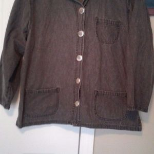Chicos Charcoal Blouse Jacket